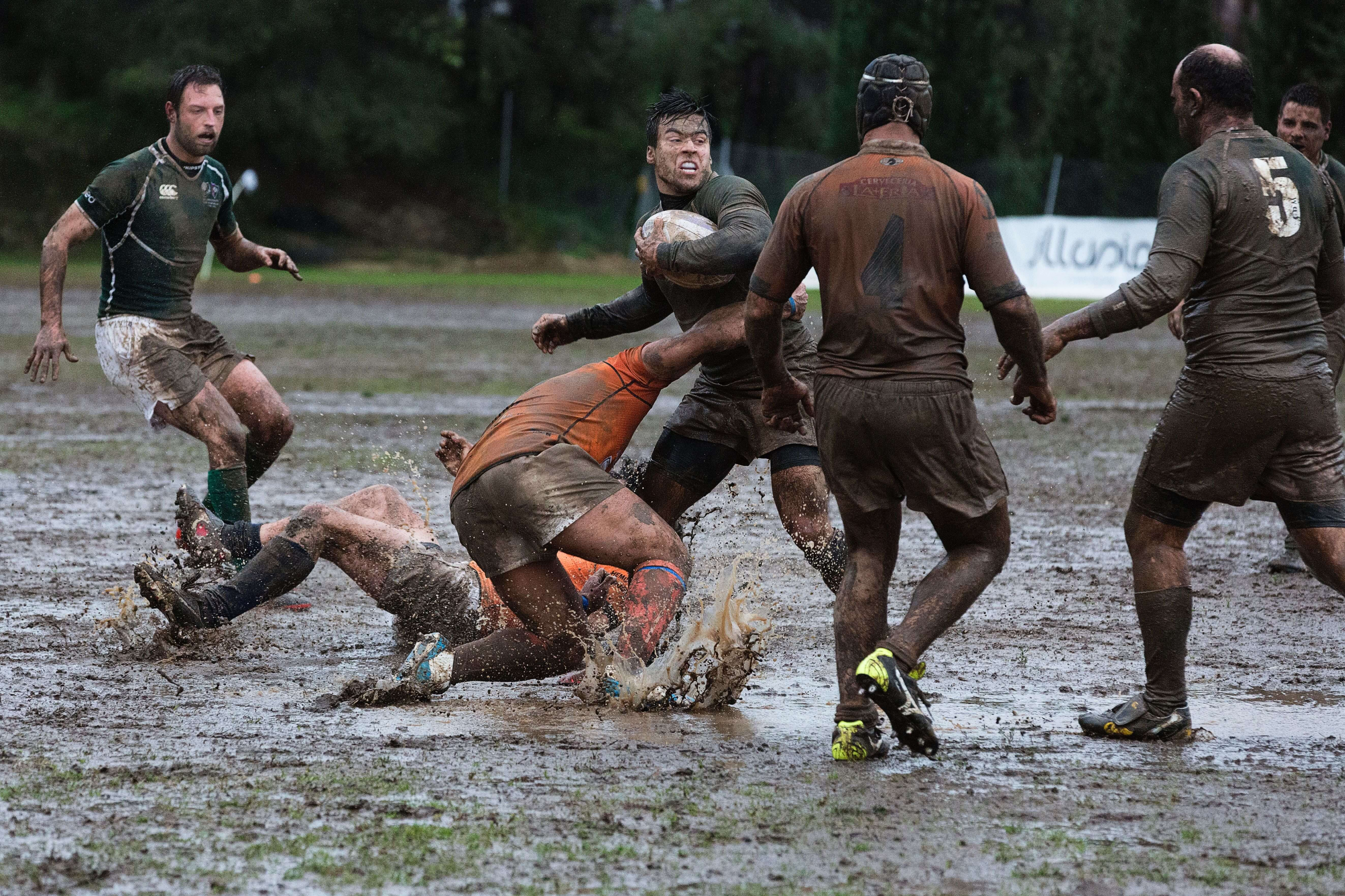 Dirty rugby match